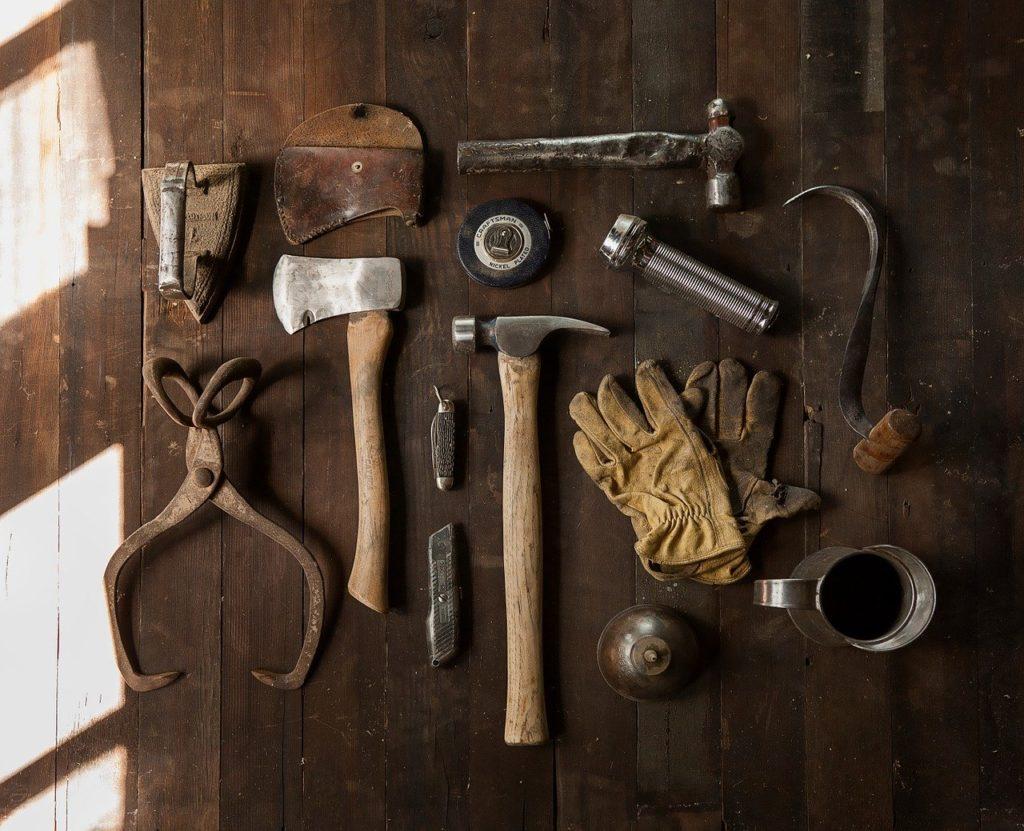 outils d'un menuisier
